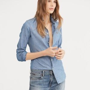 Ralph Lauren chambray button-down blouse
